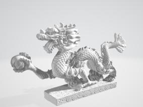 高精度中国龙雕塑