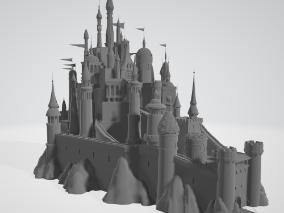 卡通城堡模型