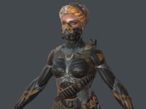 warface 角色模型  赛博朋克女