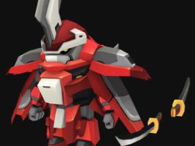 红色机甲Q版机械战士高达机器人