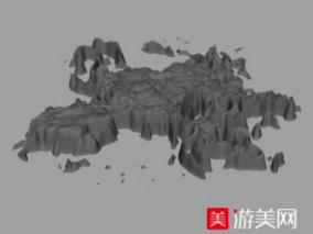 远山 石头山cg模型