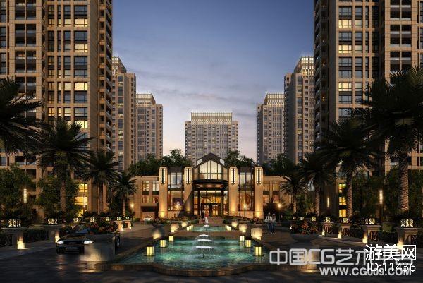 高品质现代小区住宅楼3d建筑模型下载 1G项目文