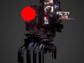 赛博朋克  广告窗  工业城市建筑夜景场景模型