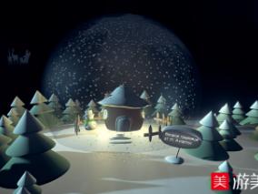 圣诞雪球,房子,雪人,圣诞树,下雪场景,玻
