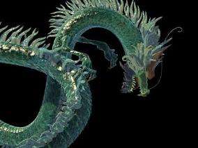 非常精细的中国龙 青龙3dmax模型下载