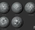 岩石墙壁笔刷18套
