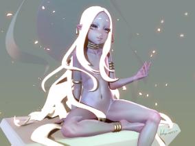 卡通精灵少女obj模型