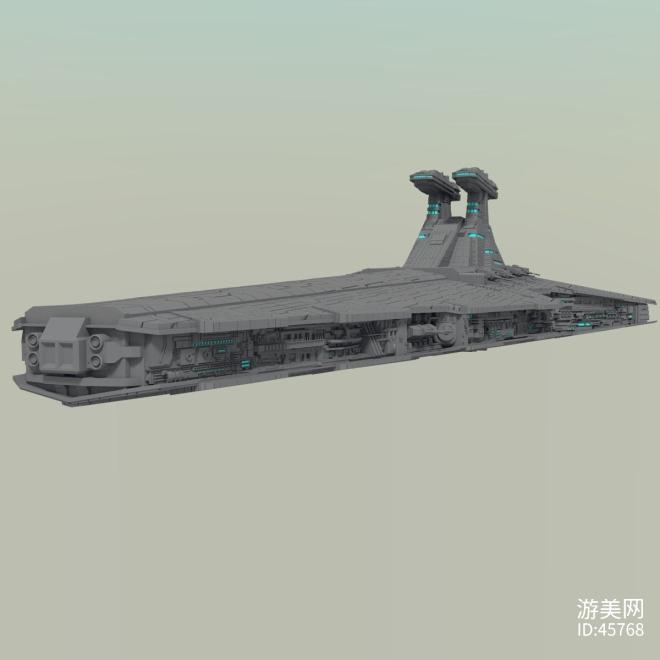 大型毁灭级星际战舰飞船