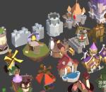低面数卡通王国模型包游戏模型