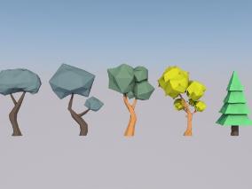 低面数树合集