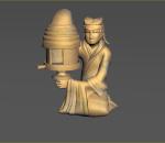 两汉时代灯具(长信宫灯),文物,古董,古代灯具,长信宫灯