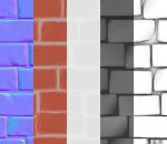 风格化墙壁砖纹理