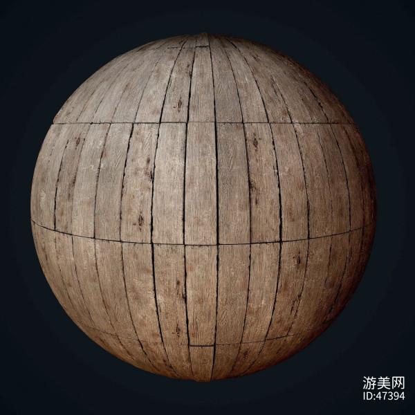 木地板PBR无缝的4K纹理