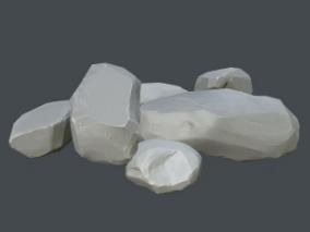 风格化游戏石头
