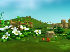 卡通草坪花园