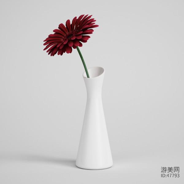桌面盆栽3D模型