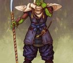 Kenji_893 绘制的日本武士版龙珠角色