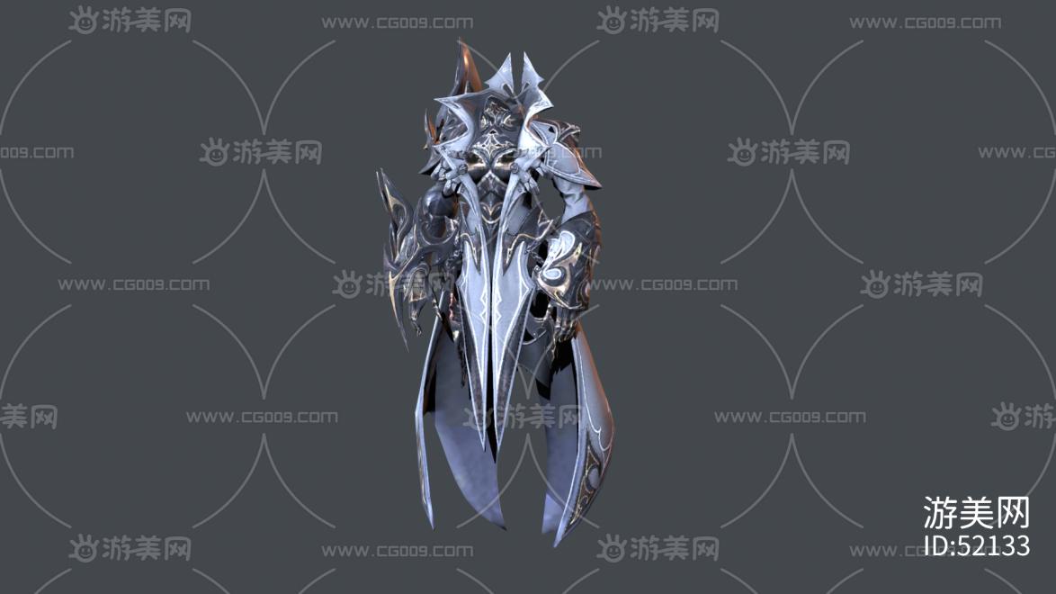 女骑士铠甲长袍