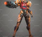 游戏人物盔甲女战士