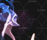 蓝色火焰燃烧 粒子光特效
