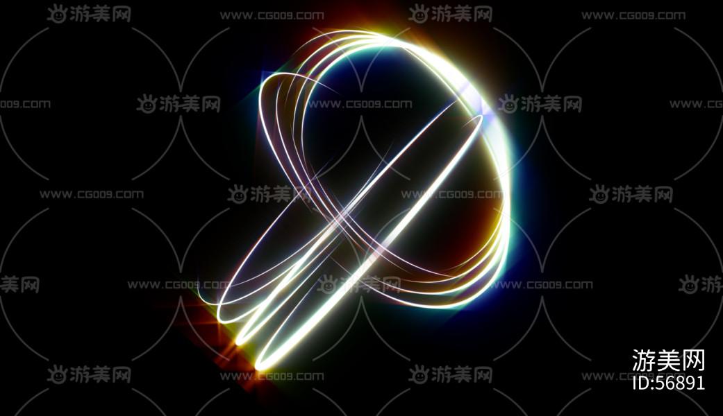 炫酷彩色光弧纹理特效