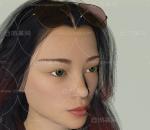 大美女 带骨骼绑定 带动画 长发披肩 墨镜女孩 绿眼睛女孩