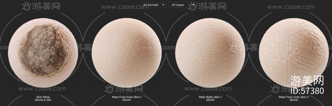 SP人物皮肤材质球70多个