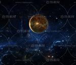 太空陨石 地球 火星场景  星空