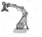 机械手臂 机器抓手 工业设备 智能手臂 有动画数据