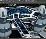 影视级别科幻宇宙飞船 机舱 登月飞机 未来飞船 详细内部结构