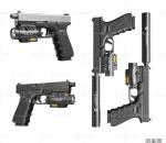 写实手枪模型