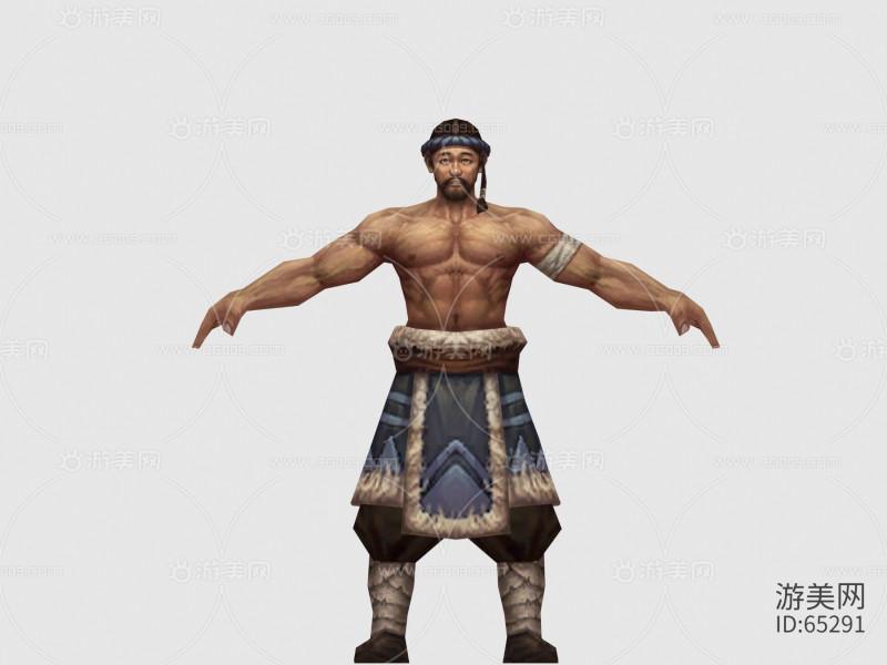 仙侠类手游 和尚模型 古风系列模型 手绘模型 游戏角色模型 游戏NPC模型
