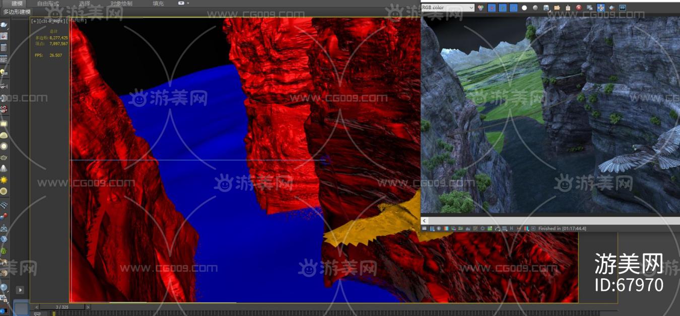 影视级别 老鹰带动画 湿地森林 峡谷山川 平原 河流山脉