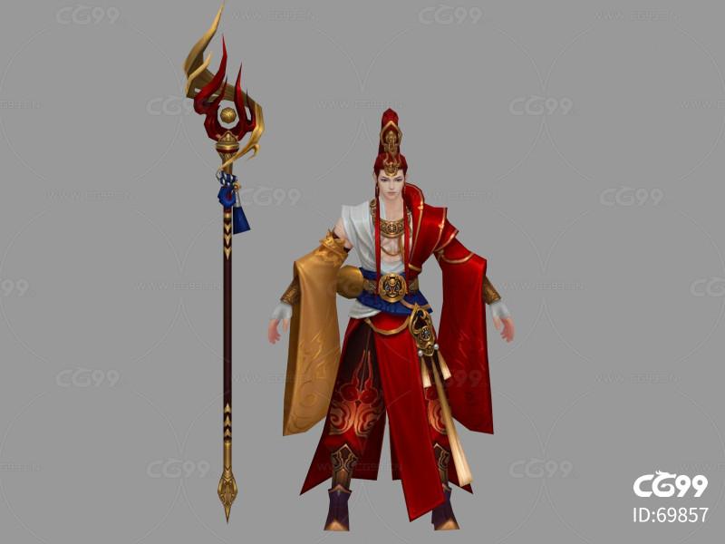 游戏模型    手游  手绘角色   仙侠  武侠   男性角色