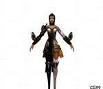 游戏模型 手绘模型 美女角色  漂亮小姐 宫廷公主