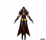 游戏模型 手绘模型 美女角色  漂亮女剑客