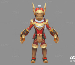 Q版   卡通    游戏模型   手绘模型   铠甲勇士