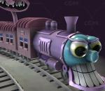 卡通小火车 小丑的列车 恐怖卡通幽灵车