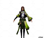 游戏模型 手绘模型 美女角色  布甲美女战士