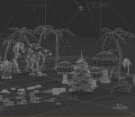卡通树,CG场景,游戏场景