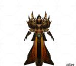 游戏模型 手绘模型 美女角色  铜甲美女战士