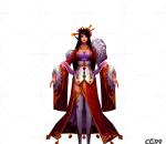 游戏模型 手绘模型 美女角色  漂亮宫女、丫鬟