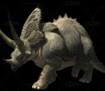 恐龙 三角龙带动作一套