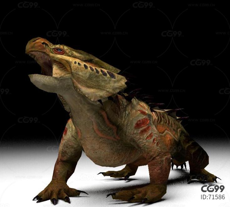 科莫多巨蜥带动作一套