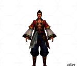 中国古风人物角色低模  商贩模型 NPC模型