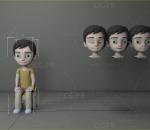 【骨骼绑定】小男孩 小学生 小孩子 小朋友 卡通男孩 小正太
