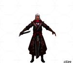中国古风人物角色低模  剑士