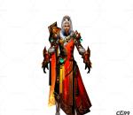 游戏模型 手游角色模型  火灵模型  战士系列模型
