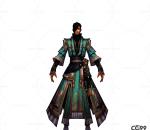 游戏模型 手游角色模型  战士系列模型   侠客系列