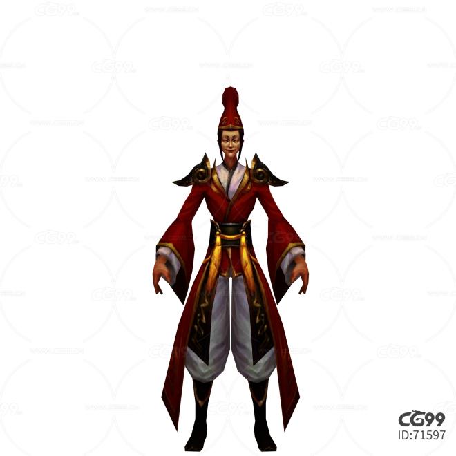 游戏模型 手游角色模型  NPC模型